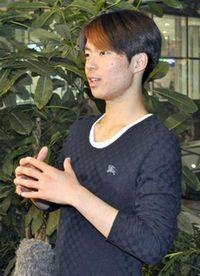 神戸ライフ:2012.11.5 中国杯より帰国会見 町田樹(羽田空港)