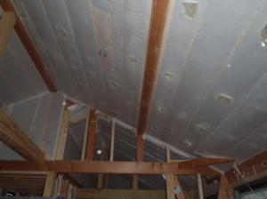 2階天井吹き込み