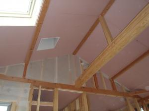 2階天井下地張り