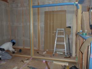 和室床の間造作中