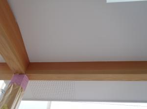 玄関庇部分塗り