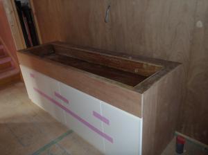 造作洗面台搬入