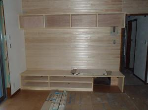 11月27日テレビボード造作