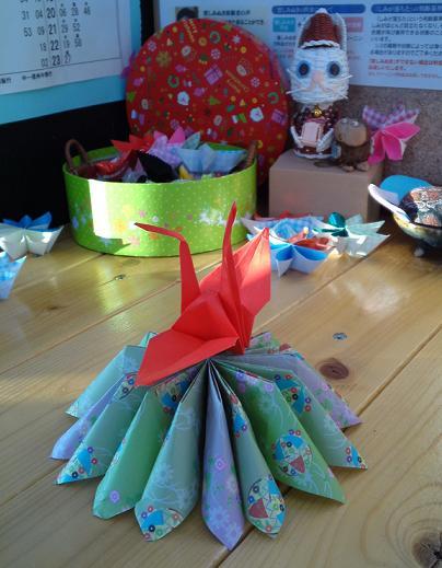 鶴のお正月飾り