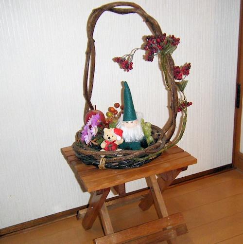 玄関飾り(晩秋から冬)