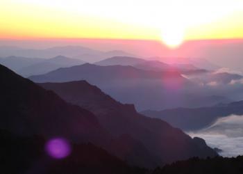石鎚山山頂夕景1
