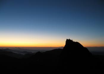 石鎚山、朝日の天狗岳