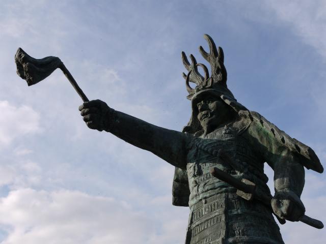 行徳橋の忠勝像ー3