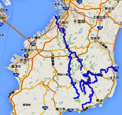 大多喜町の川 養老川と夷隅川ー2