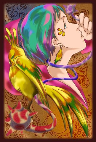 【オリジナル】少女と鳥さんその1