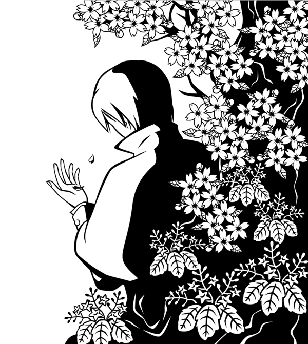 【つきゆき】桜と桐の花に埋もれさせてみた