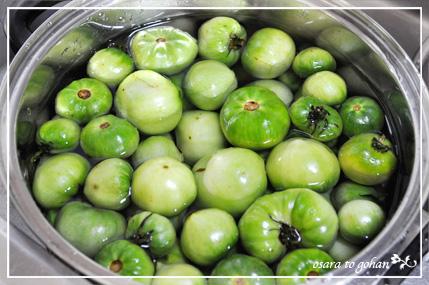 青いトマト ジャム