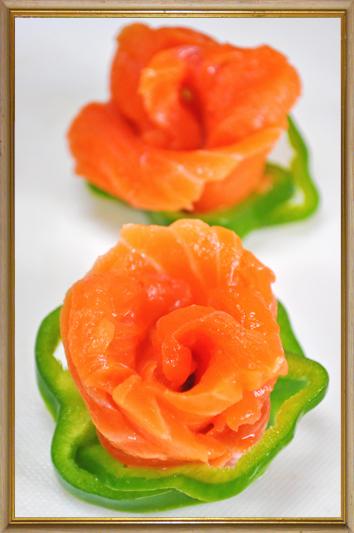 サーモン 薔薇