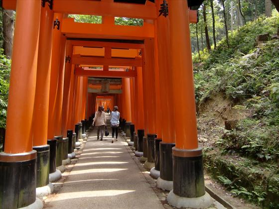 京都伏見稲荷大社で山登り10