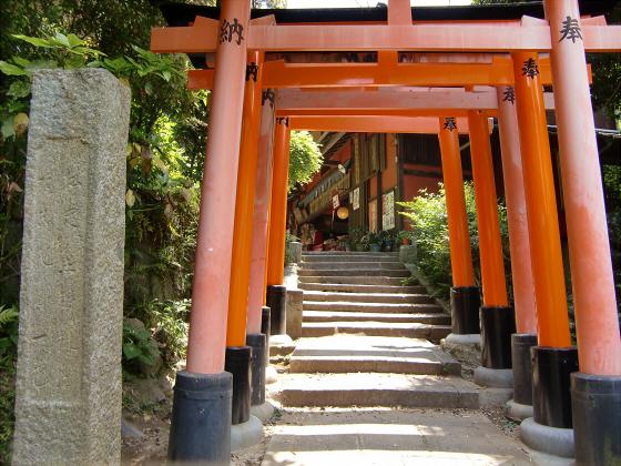 京都伏見稲荷大社で山登り12
