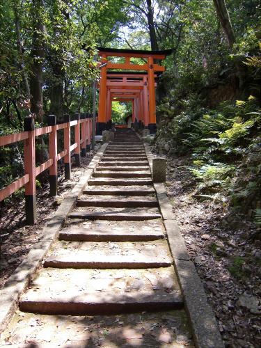 京都伏見稲荷大社で山登り19