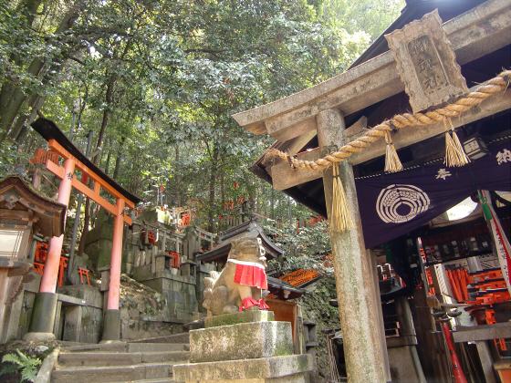 京都伏見稲荷大社で山登り23