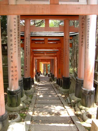 京都伏見稲荷大社で山登り27