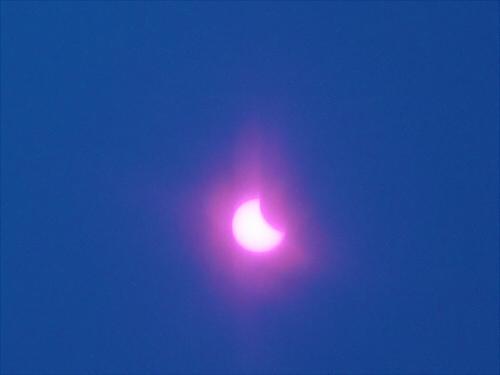 大阪市内で金環日食1