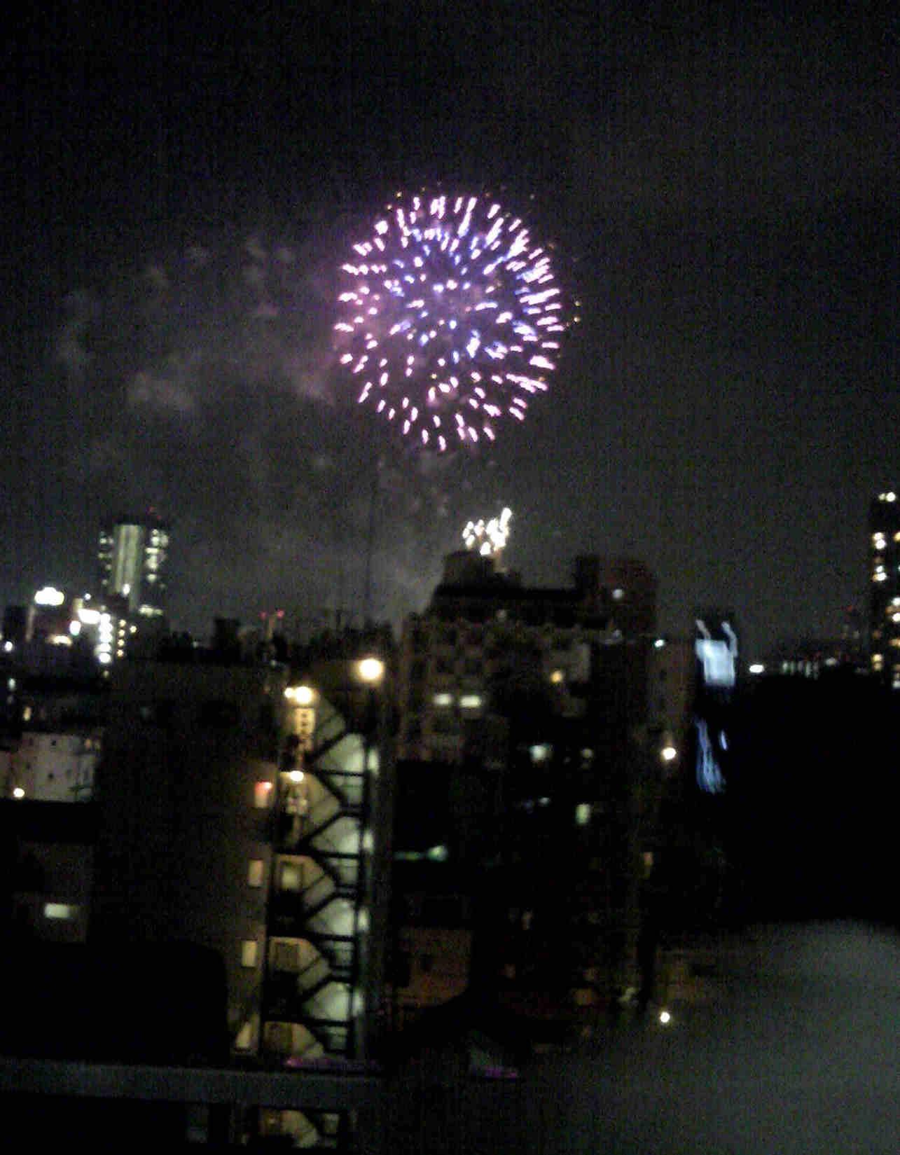 2012天神祭 部屋から花火