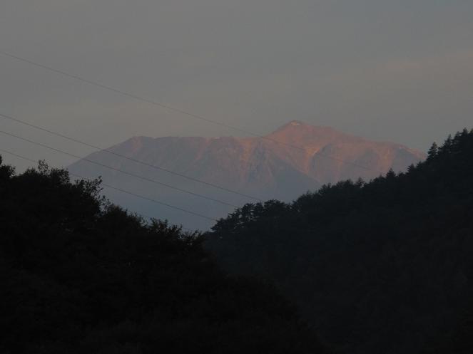 早朝御嶽山
