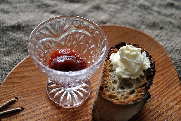 クリームチーズと苺ジャム