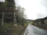 比曽地区、羽山神社の横