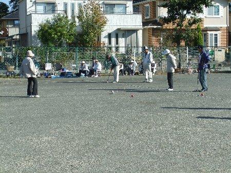 秋季ゲートボール