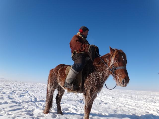 馬に乗るお父さん