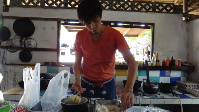 串カツ作り