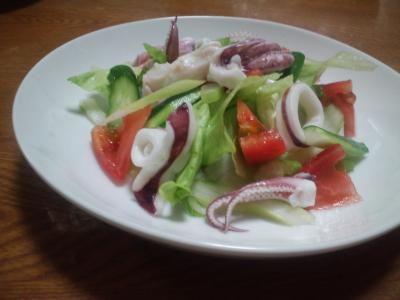 ヤリイカのサラダ
