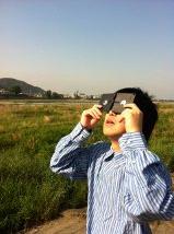 フロッピーディスクで日食観察