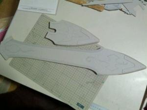 W様 天空の剣 鞘 製作過程