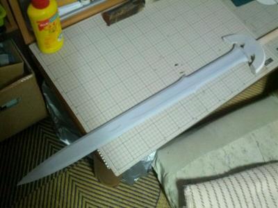 N様 ロトの剣(ドラクエ展ver) 製作過程 下地塗装2