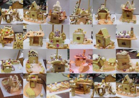 お菓子の家々