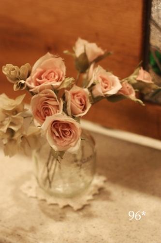 バラ アジサイ 小花