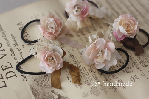 ヘアゴム 花