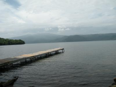 仁伏公共桟橋から見た藻琴山