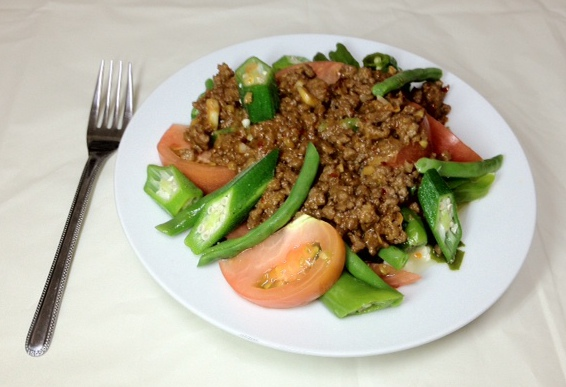 ひき肉と野菜