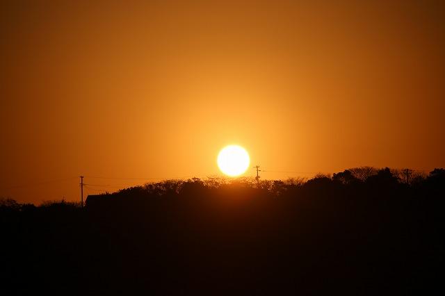 日の出の朝