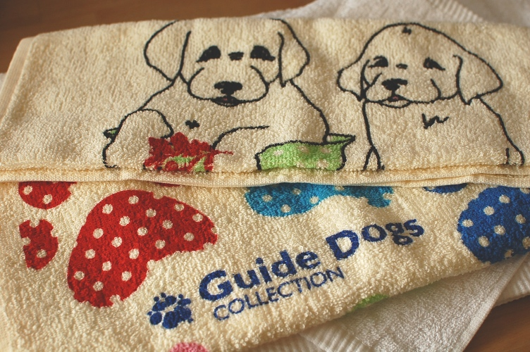 デラックスパイルタオル2枚セット オーストラリア盲導犬協会限定A