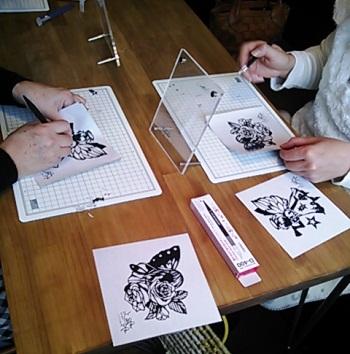 切り絵教室②20121204
