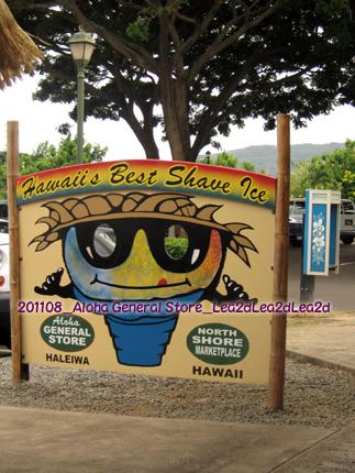 2011年8月 Aloha General Store の Shave Ice