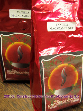 2011年1月 The compleat kitchen COFFEE VANILLA MACADAMIA NUT