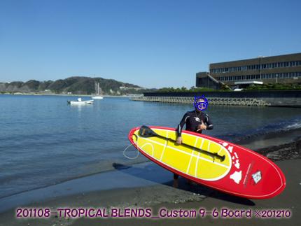2012年6月 TROPICAL BLENDS Custom 8-10 SUP Board