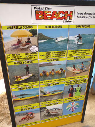 2012年6月 Waikiki Shore BEACH Rental Board