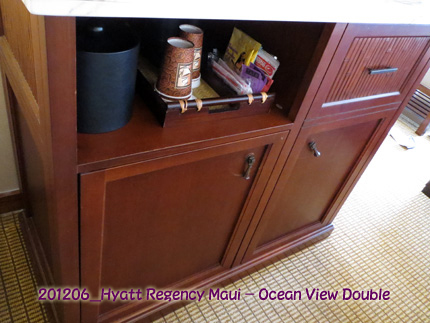 2012年6月 Hyatt Regency Maui Resort & Spa Ocean View Double-MINI BAR  etc
