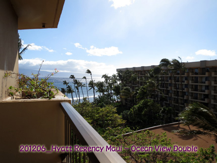 2012年6月 Hyatt Regency Maui Resort & Spa Ocean View Double-Lanai View