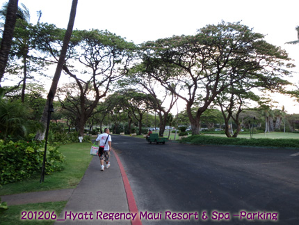 2012年6月 Hyatt Regency Maui Resort & Spa Parking