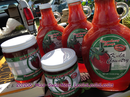 2012年6月 Maui Swap Meet Kula Country Strawberry Sauce & Jam